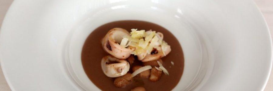 Calamari, borlotti e pecorino